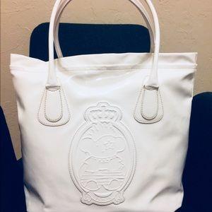 TOUS White Handbag Embossed Bear